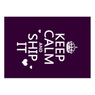 Keep Calm and Ship It (hearts) (in any color) Business Card Templates
