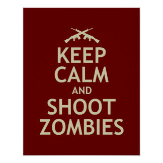 Keep Calm and Shoot Zombies Poster