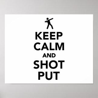 Keep calm and shot put poster