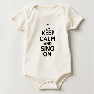Keep Calm and Sing On Baby Bodysuit