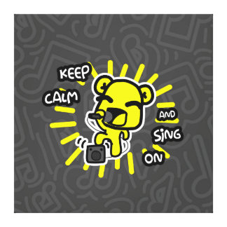 Keep Calm and Sing On Canvas Print