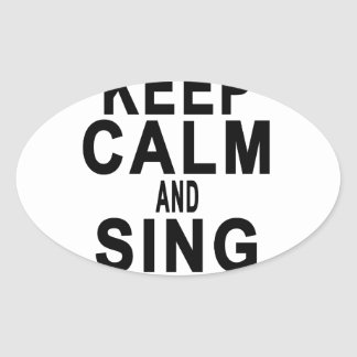 KEEP CALM AND SING SOFT KITTY.png Oval Sticker