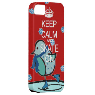Keep Calm and Skate red iphone 5 barely case iPhone 5 Case