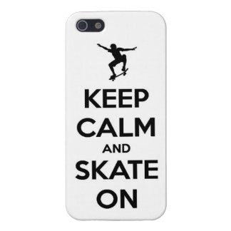 keep calm and skate  skateboarding board street tr iPhone 5/5S case