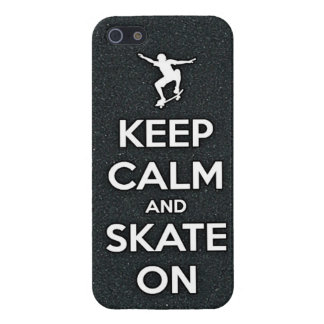 keep calm and skate  skateboarding board street tr case for iPhone 5/5S