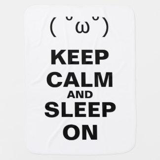 KEEP CALM AND SLEEP ON RECEIVING BLANKET