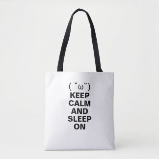 KEEP CALM AND SLEEP ON TOTE BAG