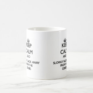 Keep calm and slowly back away from Genies Coffee Mugs