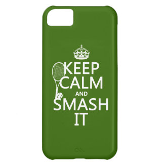 Keep Calm and Smash It tennis any color iPhone 5C Cases