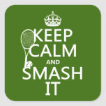 Keep Calm and Smash It (tennis)(any colour)