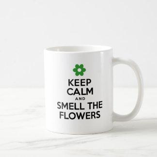 Keep Calm And Smell The Flowers Spring Mug