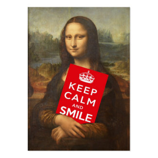 Keep Calm And Smile Business Card Templates