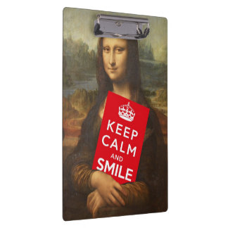 Keep Calm And Smile Clipboards