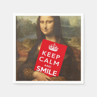 Keep Calm And Smile Disposable Serviette