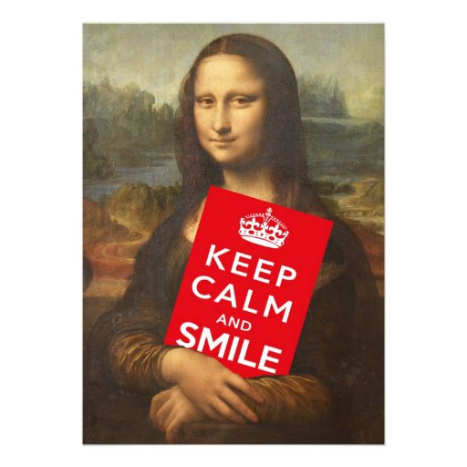 Keep Calm And Smile Announcements
