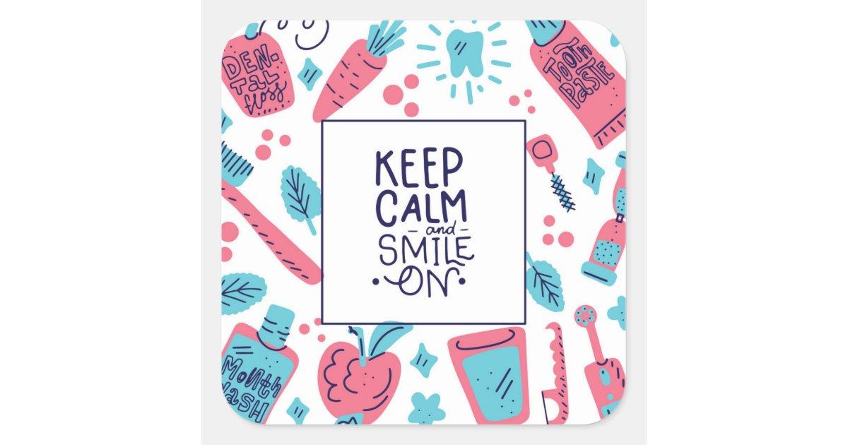 Cute Phrase Square Sticker