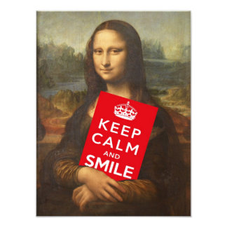 Keep Calm And Smile Photo Art