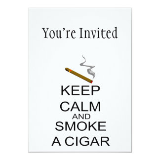 Keep Calm And Smoke A Cigar Card