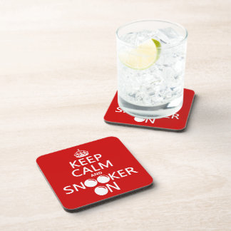 Keep Calm and Snooker On (all colors) Coaster