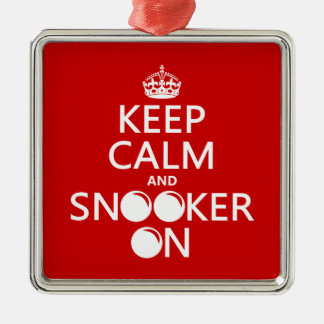 Keep Calm and Snooker On (all colors) Metal Ornament