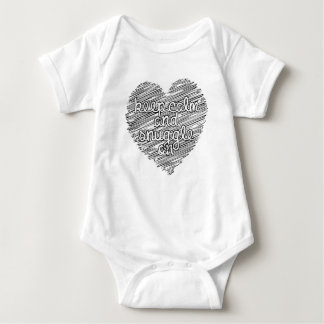 Keep Calm and Snuggle On Baby Bodysuit
