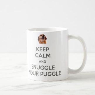 Keep Calm and Snuggle Your Puggle Double-Sided MUG