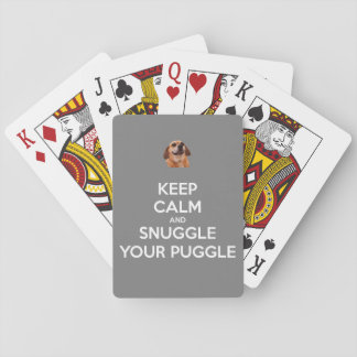 Keep Calm and Snuggle Your Puggle - Playing Cards! Playing Cards