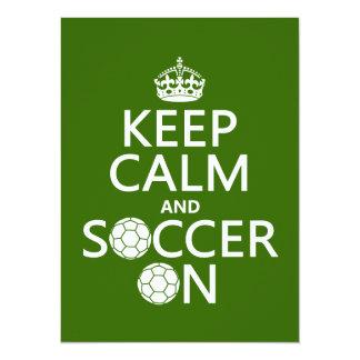 Keep Calm and Soccer On Card