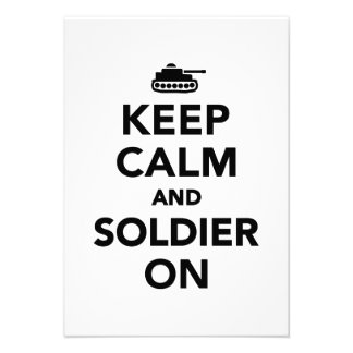 Keep calm and Soldier on Invitations
