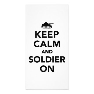 Keep calm and Soldier on Photo Card