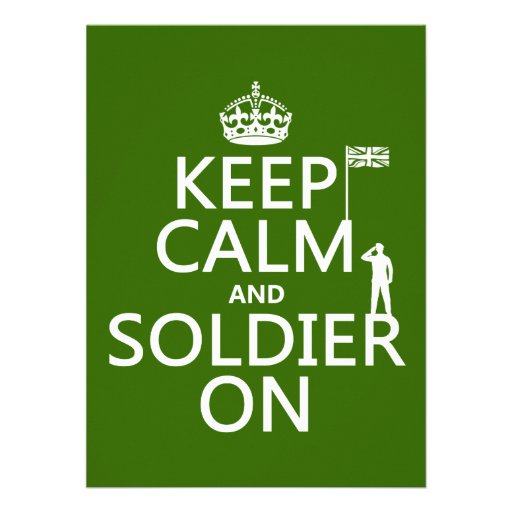 Keep Calm and Soldier On (UK flag)(any color) Custom Invite