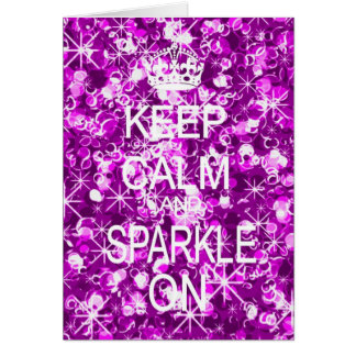 Keep Calm and Sparkle glitz Christmas card