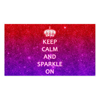 Keep Calm and Sparkle On Business Card Template