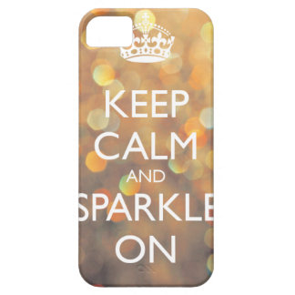 Keep Calm and Sparkle On Case For The iPhone 5