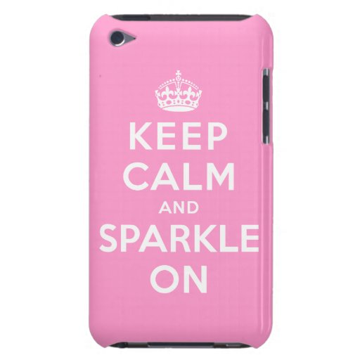 Keep Calm and Sparkle On iPod Touch Cover