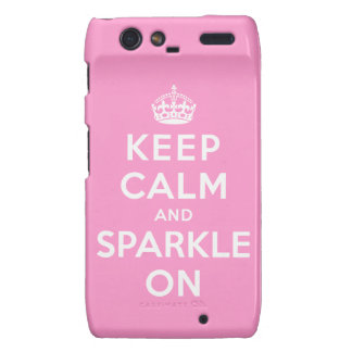 Keep Calm and Sparkle On Droid RAZR Covers