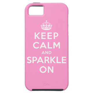 Keep Calm and Sparkle On iPhone 5 Case