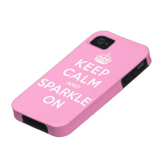 Keep Calm and Sparkle On Case-Mate iPhone 4 Case