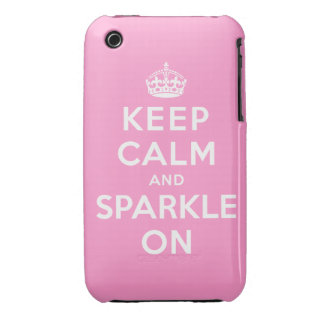 Keep Calm and Sparkle On Case-Mate iPhone 3 Case