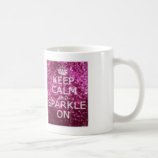 Keep Calm and Sparkle On Coffee Mug