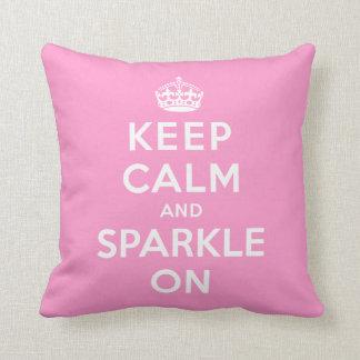 Keep Calm and Sparkle On Throw Pillows