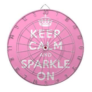 Keep Calm and Sparkle On Dartboard