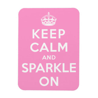 Keep Calm and Sparkle On Rectangular Photo Magnet
