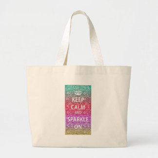 Keep Calm and Sparkle On Glitter Tote Bags