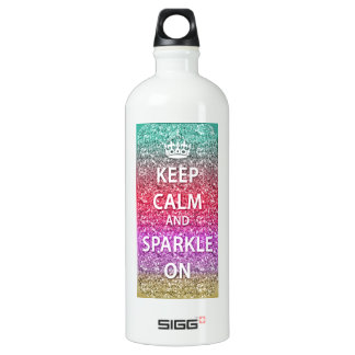 Keep Calm and Sparkle On Glitter SIGG Traveller 1.0L Water Bottle