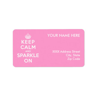 Keep Calm and Sparkle On Address Label