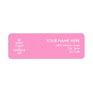 Keep Calm and Sparkle On Return Address Label