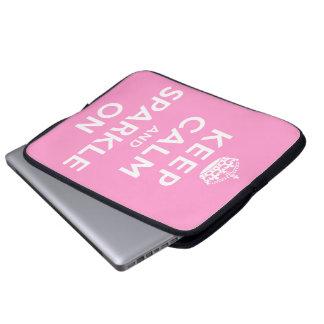 Keep Calm and Sparkle On Laptop Computer Sleeve