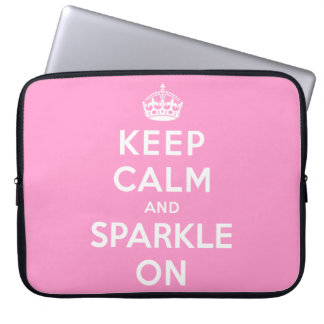 Keep Calm and Sparkle On Laptop Sleeve