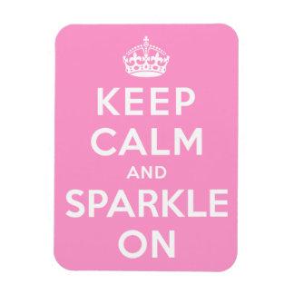 Keep Calm and Sparkle On Rectangular Photo Magnet